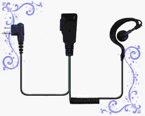 MOTOROLA GP300對講機耳掛卷線耳機 泛宇無線電對講機