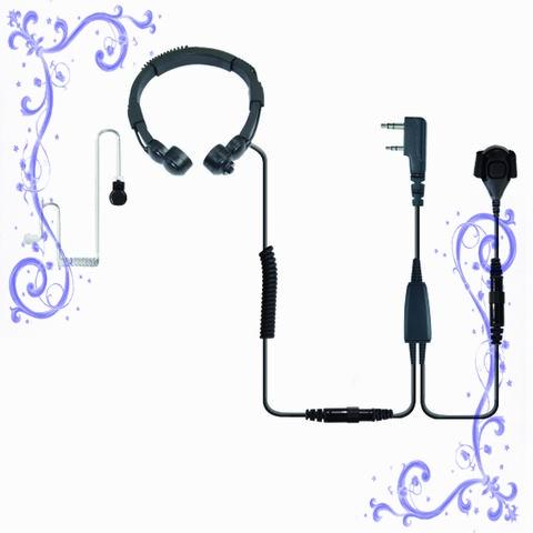 重型喉振對講耳機帶手指PTT 泛宇無線電對講機