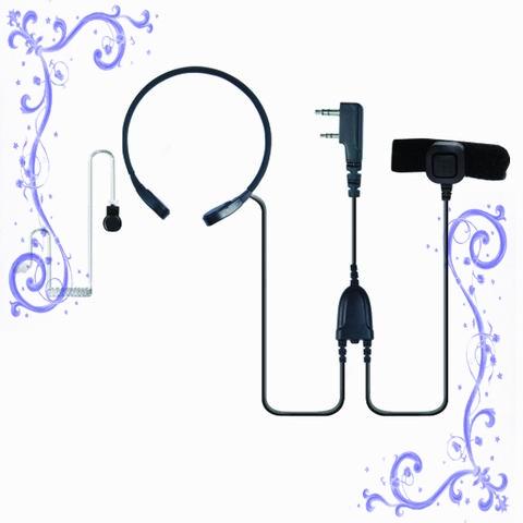 KENWOOD TK3107,TK3207對講機喉振耳機帶手指PTT 泛宇無線電對講機